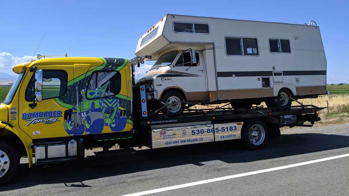 Towing Paradise California